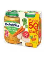 BOBOVITA Bukiet warzyw z kurczakiem po 8 m-cu - 2 x 190 g - Apteka internetowa Melissa