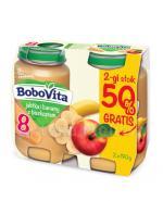 BOBOVITA Jabłka i banany z biszkoptem po 8 m-cu - 2 x 190 g - Apteka internetowa Melissa