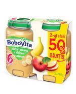 BOBOVITA Jabłka i banany z kleikiem owsianym po 6 m-cu - 2 x 190 g - Apteka internetowa Melissa