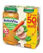 BOBOVITA JUNIOR Potrawka z kurczakiem i szpinakiem 1-3 lata - 2 x 250 g - Apteka internetowa Melissa
