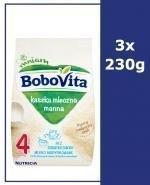 BOBOVITA Kaszka manna tradycyjny posiłek bez dodatku cukru po 6 m-cu - 3 x 230 g - Apteka internetowa Melissa