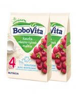 BOBOVITA Kaszka mleczno-ryżowa o smaku malinowym po 4 m-cu - 2 x 230 g - Apteka internetowa Melissa