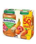 BOBOVITA Morele, banany i jabłka po 6 m-cu - 2 x 190 g - Apteka internetowa Melissa