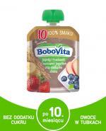 BOBOVITA  MUS Jagody i truskawki z owocami i jogurtem oraz delikatne zboża, po 10 miesiącu - 80 g - Apteka internetowa Melissa