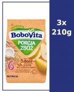 BOBOVITA PORCJA 3 ZBÓŻ Kaszka mleczna o smaku gruszkowym po 8 m-cu - 3 x 210 g - Apteka internetowa Melissa