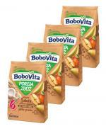 BOBOVITA PORCJA 4 ZBÓŻ Kaszka mleczna o smaku jabłkowo-gruszkowym po 6 m-cu - 4 x 210 g - Apteka internetowa Melissa