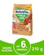 BOBOVITA PORCJA ZBÓŻ Kaszka mleczna 3 zboża, malina - truskawka - banan, po 6 miesiącu - 210 g - cena, stosowanie, opinie