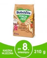 BOBOVITA PORCJA ZBÓŻ Kaszka mleczna 7 zbóż wieloowocowa po 8 miesiącu - 210 g - Apteka internetowa Melissa
