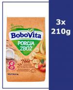 BOBOVITA PORCJA ZBÓŻ Kaszka mleczna 7 zbóż wieloowocowa po 8 miesiącu - 3 x 210 g - Apteka internetowa Melissa