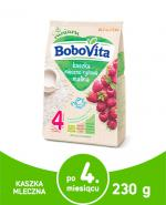 BOBOVITA Kaszka mleczno-ryżowa o smaku malinowym po 4 m-cu - 230 g - Apteka internetowa Melissa