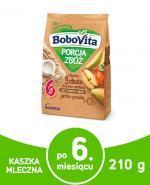 BOBOVITA PORCJA 4 ZBÓŻ Kaszka mleczna o smaku jabłkowo-gruszkowym po 6 m-cu - 210 g - Apteka internetowa Melissa