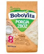 BOBOVITA PORCJA 7 ZBÓŻ Wielozbożowo-jęczmienna pełnoziarnista kaszka mleczna po 8 m-cu - 210 g - Apteka internetowa Melissa