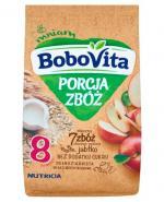 BOBOVITA PORCJA 7 ZBÓŻ Wielozbożowo-owsiana pełnoziarnista kaszka mleczna jabłkowa po 8 m-cu - 210 g - Apteka internetowa Melissa