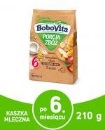 BOBOVITA PORCJA ZBÓŻ Kukurydziano-ryżowa kaszka mleczna 3 owoce po 8 m-cu - 210 g - Apteka internetowa Melissa