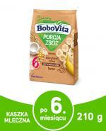 BOBOVITA PORCJA ZBÓŻ Kukurydziano-ryżowa kaszka mleczna bananowa po 6 m-cu - 210 g - Apteka internetowa Melissa