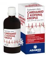 CARDIAMID Z KOFEINĄ Krople - 100 ml -  na uczucie znużenia i osłabienie - cena, dawkowanie, opinie