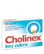 CHOLINEX BEZ CUKRU - 24 past.  - Apteka internetowa Melissa