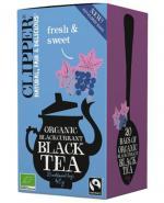Clipper Teas Herbata czarna z czarną porzeczką Fair Trade Bio - 20 sasz. - cena, właściwości, stosowanie