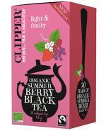 Clipper Teas Herbata czarna z czarną porzeczką, maliną i truskawką Fair Trade Bio - 20 sasz. - cena, opinie, wskazania