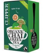 Clipper Teas Herbata zielona Chai z cynamonem i kardamonem Fair Trade Bio - 20 sasz. - cena, opinie, wskazania