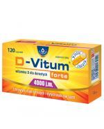 D-VITUM FORTE Witamina D dla dorosłych 4000 j.m. - 120 kaps. - Apteka internetowa Melissa