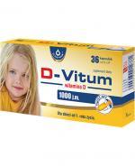 D-VITUM Witamina D dla dzieci twist-off 1000 j.m. - 36 kaps.