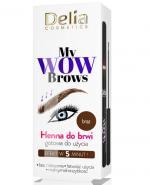 Delia My Wow Brows Henna do brwi gotowa do użycia brąz - 6 ml Do krótkotrwałej koloryzacji brwi - cena, opinie, stosowanie