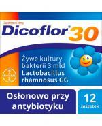 DICOFLOR 30 - 12 sasz. W antybiotykoterapii u niemowląt i dzieci.