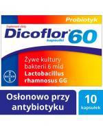 DICOFLOR 60 - 10 kaps. W antybiotykoterapii u dzieci >3 r.ż. i dorosłych.
