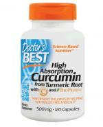 DOCTOR'S BEST Curcumin & bioperine - 120 kaps. - Apteka internetowa Melissa