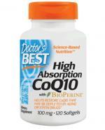 DOCTOR'S BEST Koenzym Q10 100 mg & bioperine - 120 kaps. - Apteka internetowa Melissa