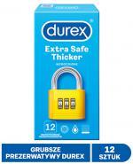 DUREX EXTRA SAFE Prezerwatywy grubsze z dodatkową ilością środka nawilżającego - 12 szt. - Apteka internetowa Melissa