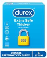 DUREX EXTRA SAFE Prezerwatywy grubsze z dodatkową ilością środka nawilżającego - 3 szt. - cena, opinie, właściwości