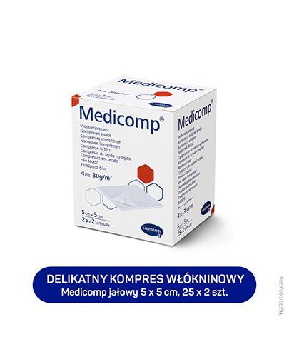 HARTMANN MEDICOMP Kompresy jałowe 5 cm x 5 cm - 50 szt. - cena, opinie, wskazania  - Apteka internetowa Melissa