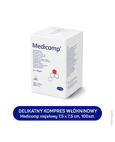HARTMANN MEDICOMP Kompresy niejałowe 7,5 cm x 7,5 cm - 100 szt.  - cena, opinie, właściwości