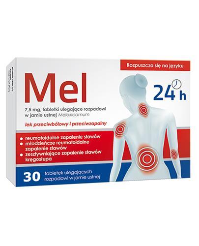 Mel 7,5 mg - 30 tabl. Lek przeciwbólowy - cena, opinie, dawkowanie - Apteka internetowa Melissa