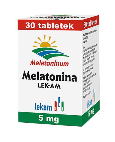 MELATONINA 5 mg - lek nasenny - 30 tabl. - cena, opinie, dawkowanie - Apteka internetowa Melissa