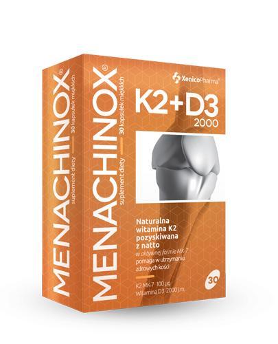 MENACHINOX K2 + D3 2000 j.m. - 30 kaps. Dla zdrowych i mocnych kości, zębów oraz mięśni. - Apteka internetowa Melissa