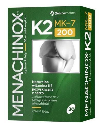 MENACHINOX K2 MK-7 200 - 30 kaps. Dla zdrowych i mocnych kości. - Apteka internetowa Melissa