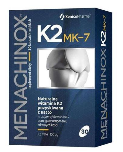 MENACHINOX K2 MK-7 - 30 kaps. Wspiera zdrowie kości. - Apteka internetowa Melissa
