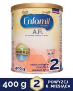 ENFAMIL AR 2 Mleko następne dla niemowląt z tendencją do ulewania - 400 g - Apteka internetowa Melissa