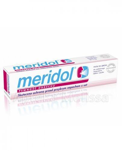 MERIDOL PEWNOŚĆ ODDECHU Pasta do zębów i języka przeciwko przykremu zapachowi z ust - 75 ml - Apteka internetowa Melissa