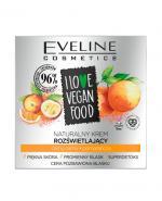 Eveline I Love Vegan Food Naturalny krem rozświetlający - 50 ml Do cery pozbawionej blasku - cena, opinie, stosowanie