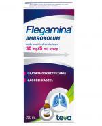 FLEGAMINA AMBROXOLUM Syrop 30 mg/5 ml - 200 ml - ułatwia odkrztuszanie, łagodzi kaszel - dawkowanie, cena, opinie