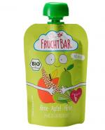 Fruchtbar Ekologiczny mus owocowy ze zbożem - gruszka, jabłko, proso - 100 g - cena, opinie, właściwości
