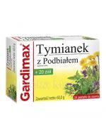GARDIMAX Tymianek z podbiałem + 20 ziół - 24 past. - Apteka internetowa Melissa