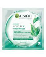GARNIER MOISTURE+ FRESHNESS Maska kompres super nawilżenie i oczyszczenie - 32 g - Apteka internetowa Melissa