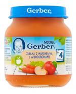 GERBER Deserek jabłka z marchewką i winogronami po 4 miesiącu - 125 g - Apteka internetowa Melissa