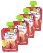GERBER Deserek Jabłko, brzoskwinia po 6 m-cu - 4 x 90 g