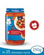 GERBER JUNIOR Kasza jęczmienna z klopsikami w sosie pomidorowym po 15 m-cu - 250 g - Apteka internetowa Melissa